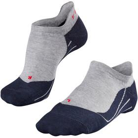 Falke RU4 Calcetines invisibles para correr Hombre, gris/negro